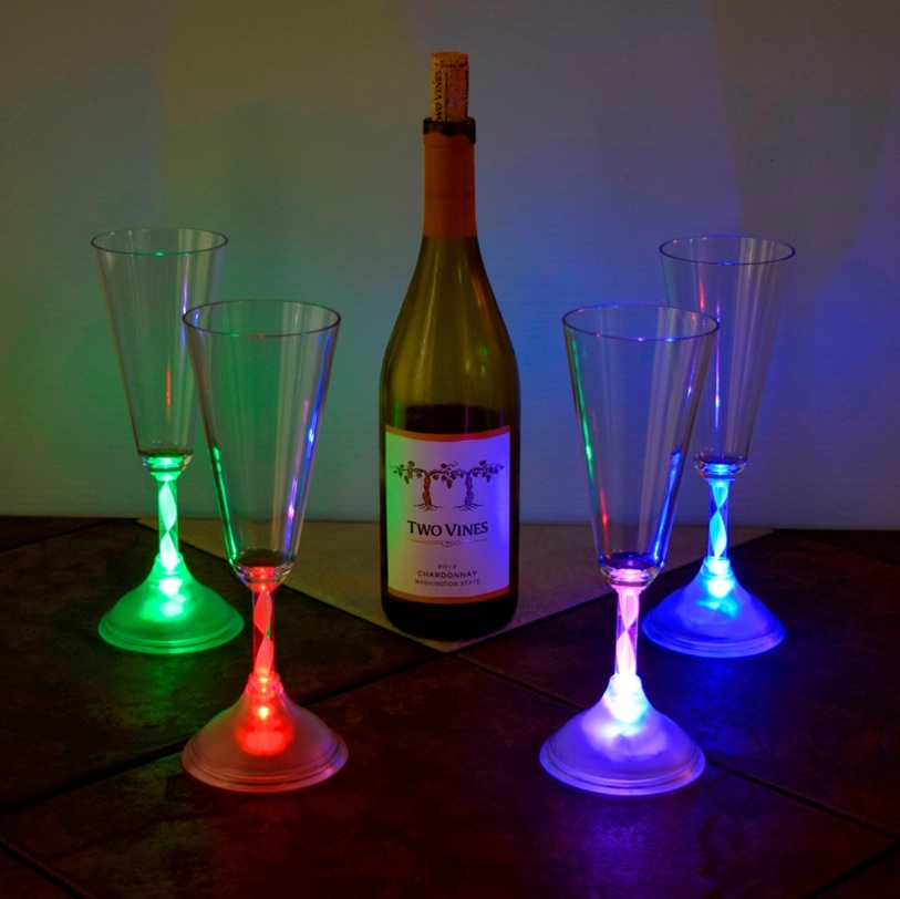 glow champagne glass