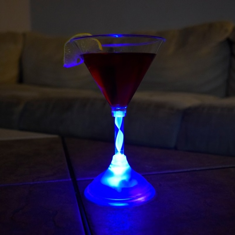 led light up martini glass
