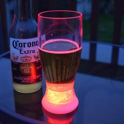 light up beer glass