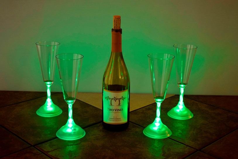 Led Light Up Champagne Glass Eternity Led