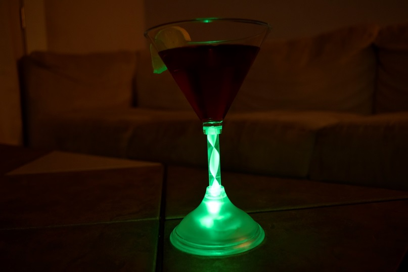 Led Light Up Martini Glass 200ml 7 Oz Eternity Led