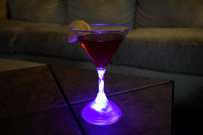 Led Light Up Martini Glass 200ml 7 Oz Eternity Led