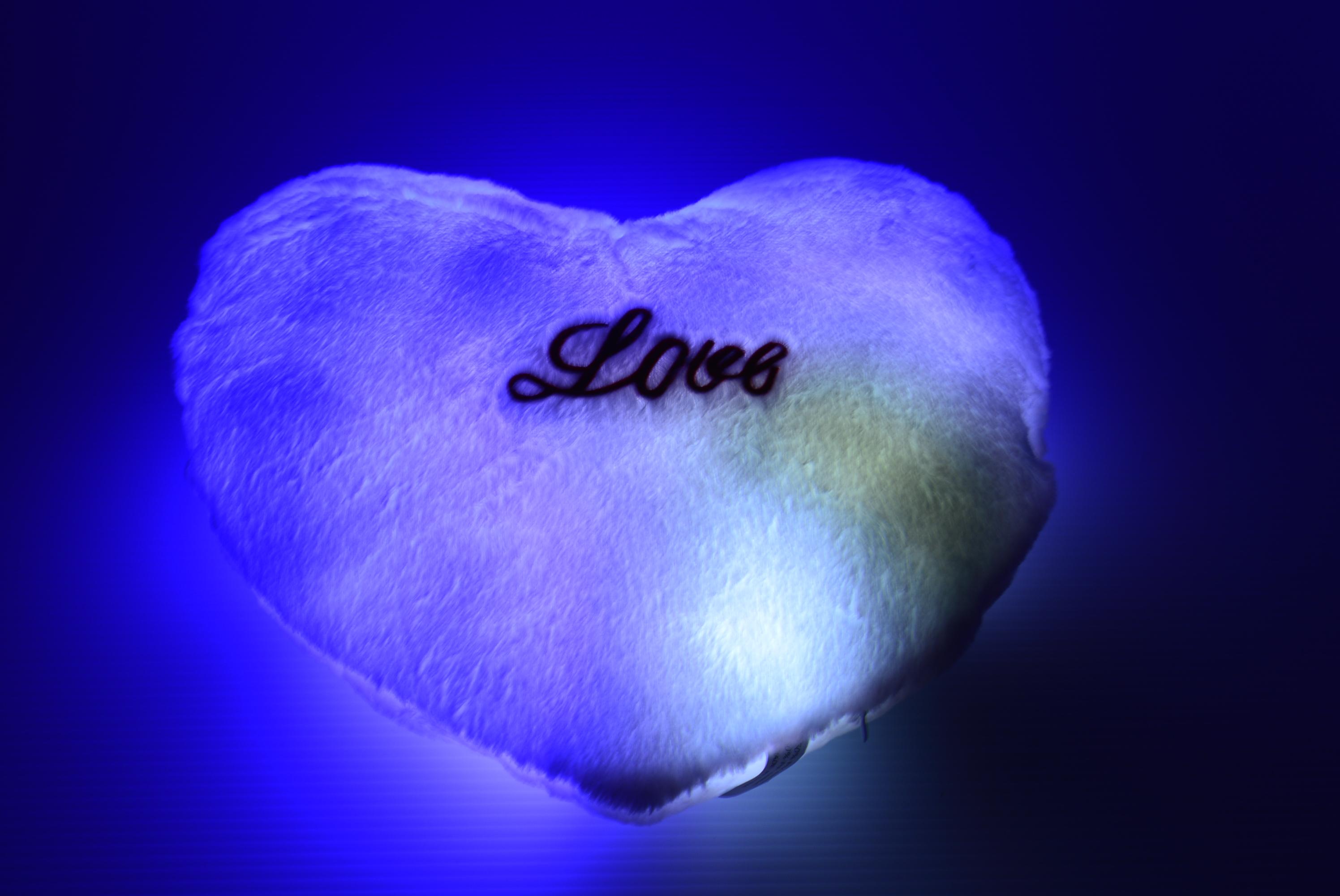 Led Light Up Heart Pillow Eternity Led