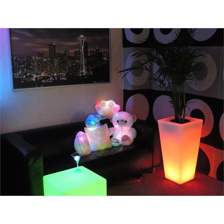 Light Up Flower Pot 31 Quot Led Flower Pot Glow Planter
