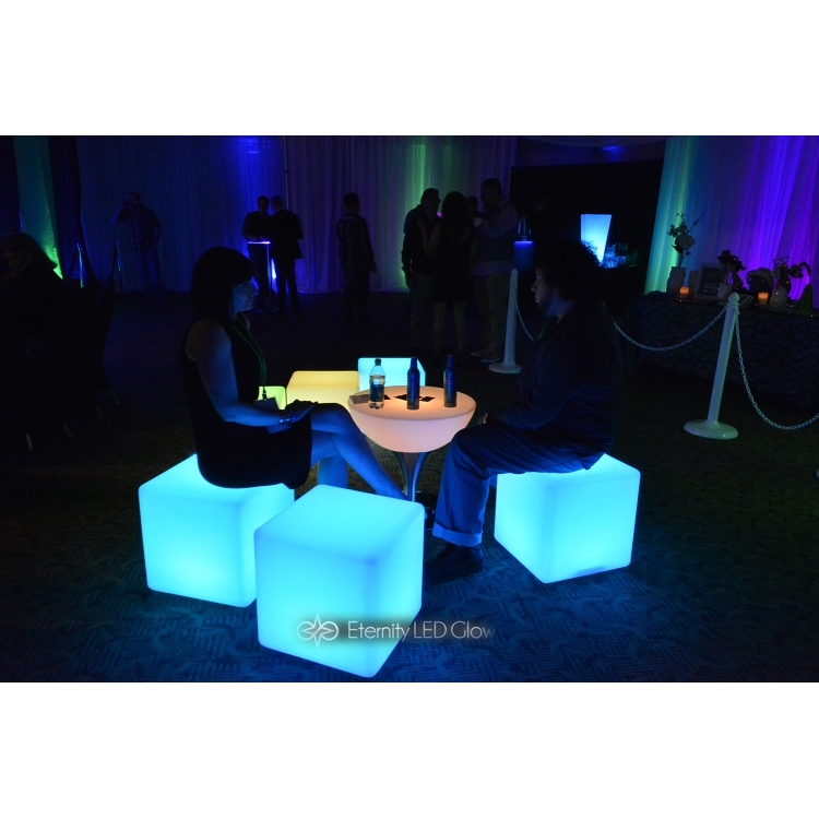 Led Cube Seat Light Up Glow Cube Chair Eternity Led