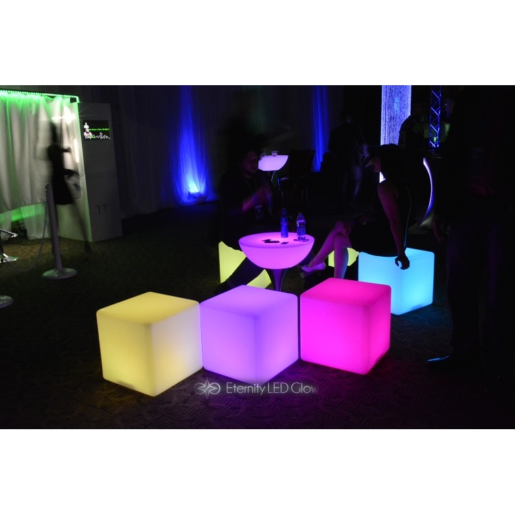 LED Cube Seat - Light up Glow cube chair | Eternity LED