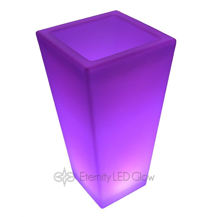 led glow flower pot