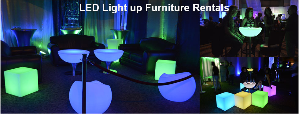 artical rental banner - LED Furniture Rentals Light Up Glow Furniture Eternity LED Glow