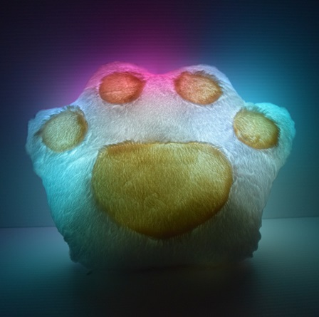 glow paw pillow light up