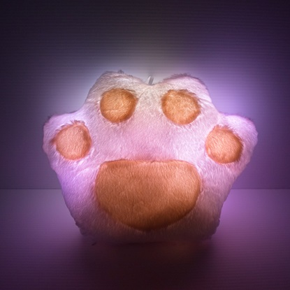 glow paw pillow light up 1