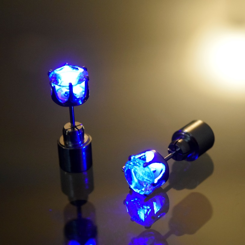 led earrings light blue