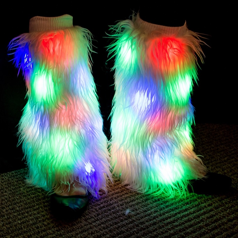 led leg warmers multicolor