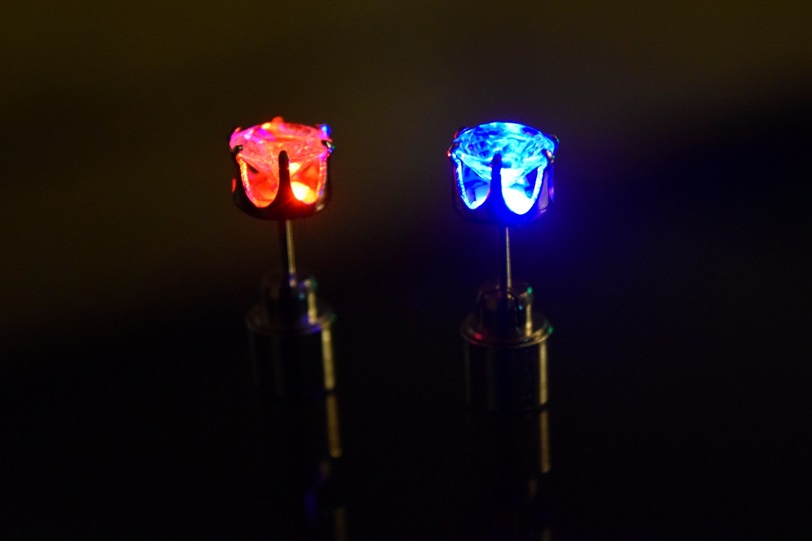 light up earrings light up led earrings eternity led 4245