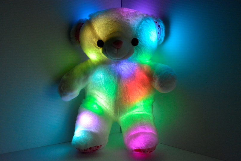 Glow teddy bear pillow pet