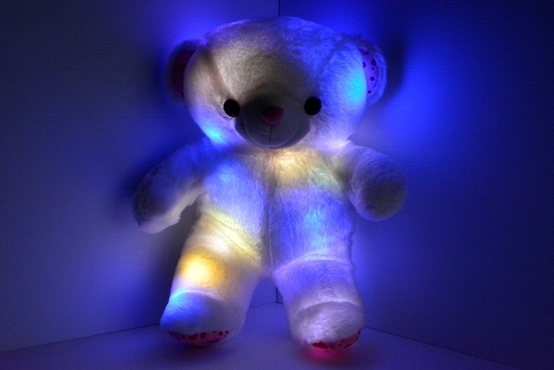 Light up teddy bear pillow pet