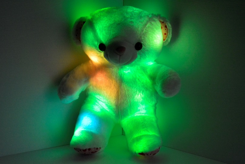 Light up teddy bear pillow