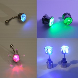 LED Earrings & Piercings