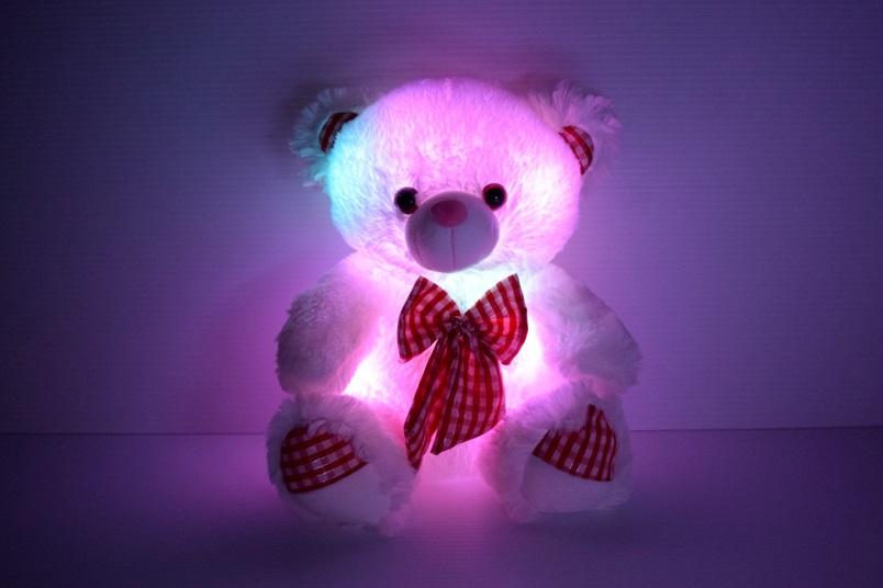 Led Light Up Bow Tie Teddy Bear Eternity Led