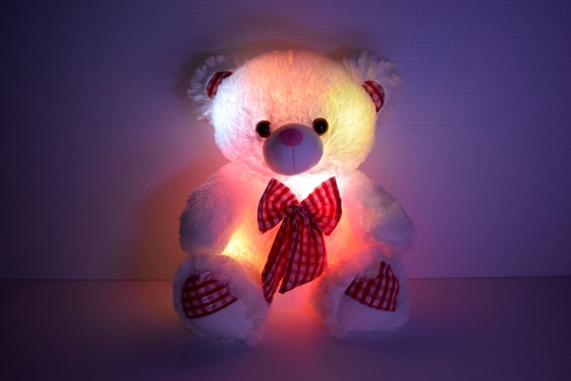 Car Light Bulbs >> LED Light Up Bow Tie Teddy Bear | Eternity LED