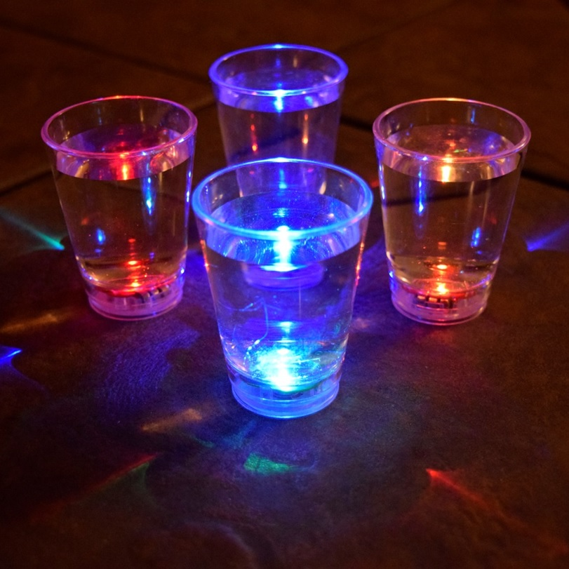 LED light up shot glass