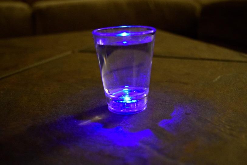 Led Light Up Multicolor Shot Glasses Set 4pc Eternity Led