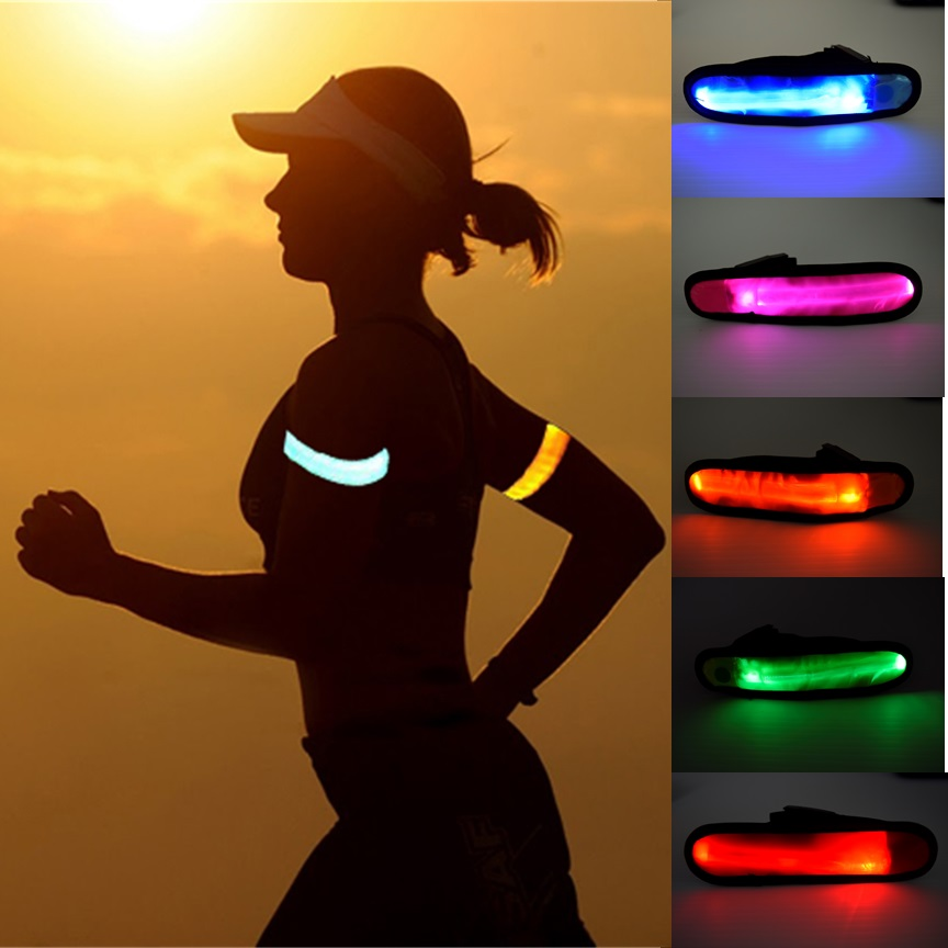 multi color led safety armband