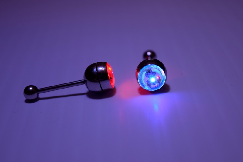 Led Light Up Tongue Piercing Tongue Ring Eternity Led