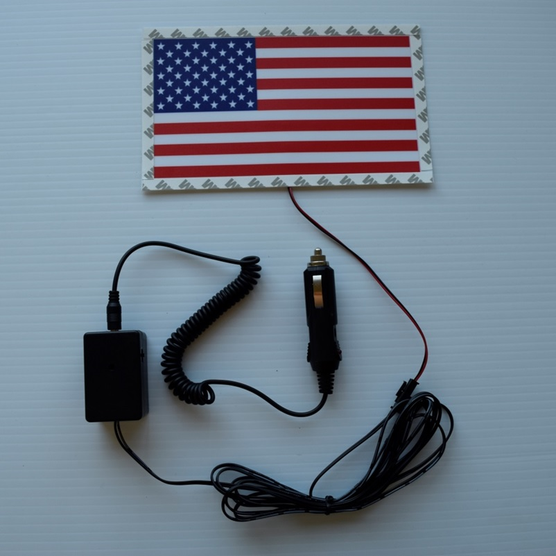 american flag light up sticker