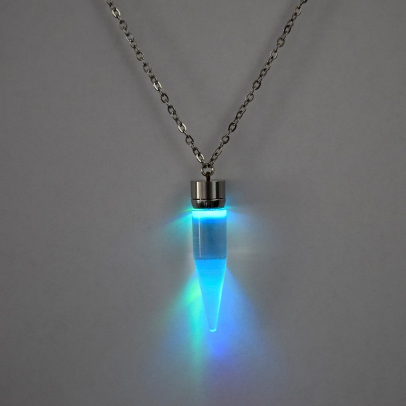 light up glow pendant necklace eternity led. Black Bedroom Furniture Sets. Home Design Ideas