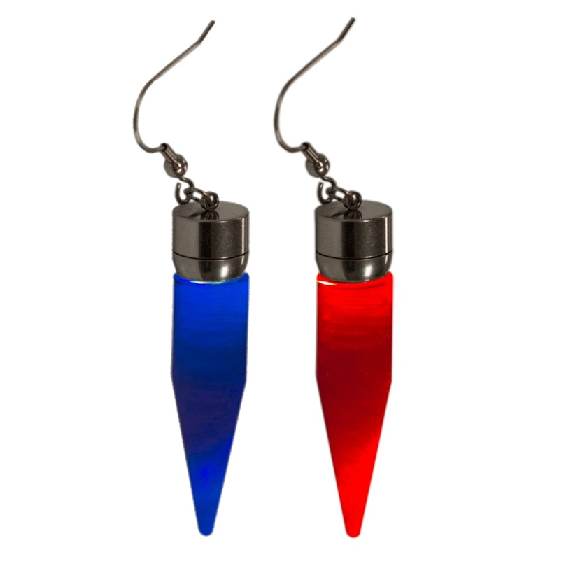 light up glow cone earrings