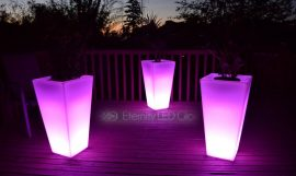 LED Light up Tall flower pot for outdoor or indoor