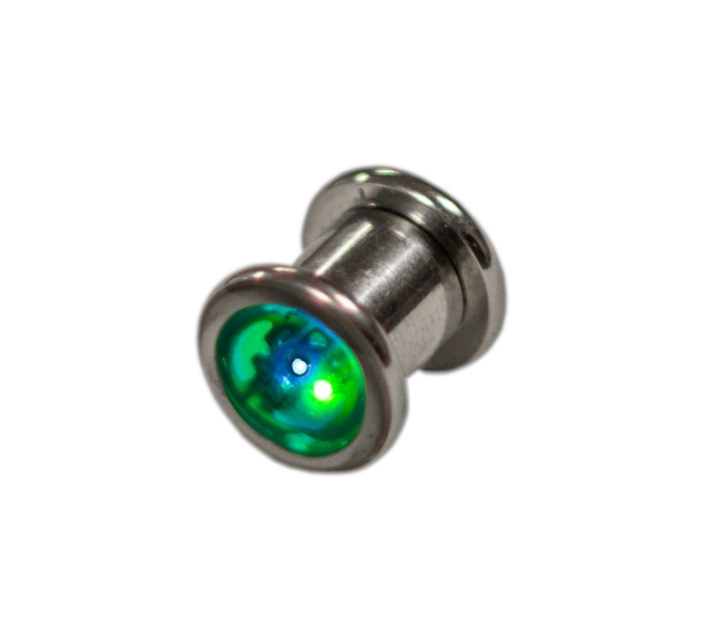 0g 8mm Led Glow Ear Gauge Plug Eternity Led