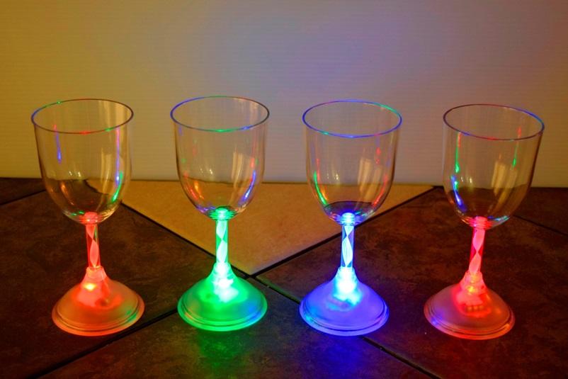 Led Light Up Wine Glass Eternity Led Glow