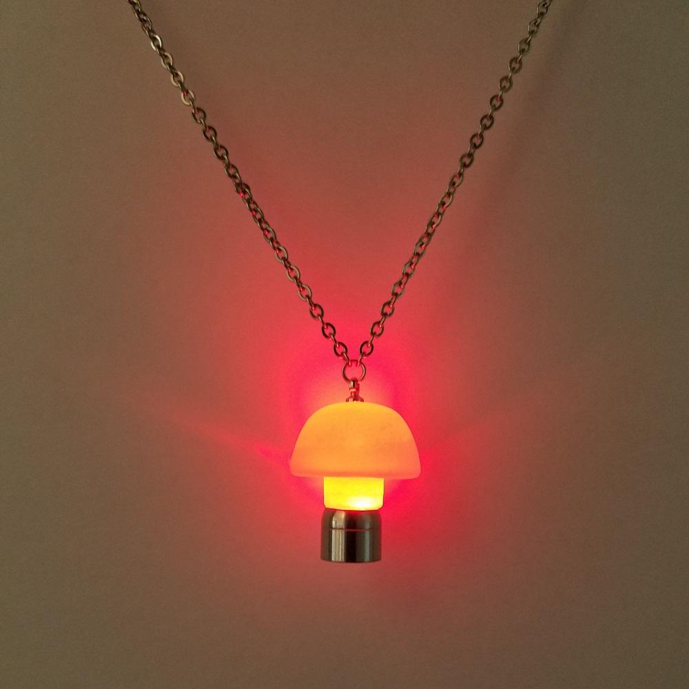 rave mushroom necklace
