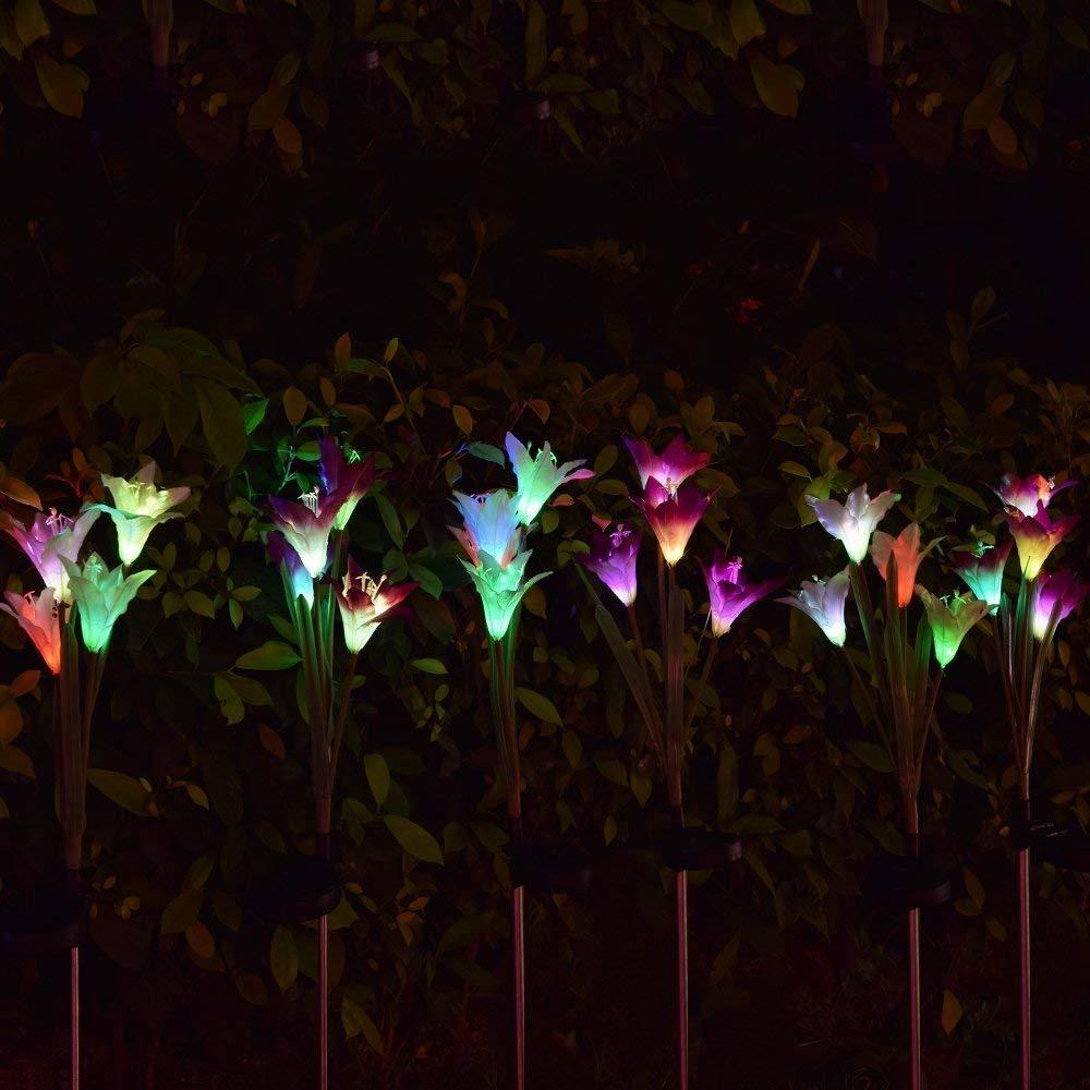 ... Garden Flower Solar Light Up Flowers LED Solar Lights For ...