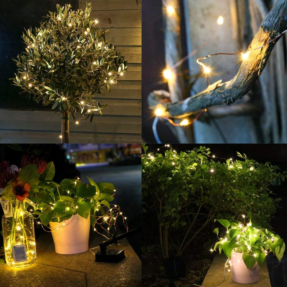 Led Outdoor Solar Powered String Light Led Fairy Wire